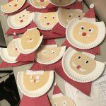 Santa Plate decorations